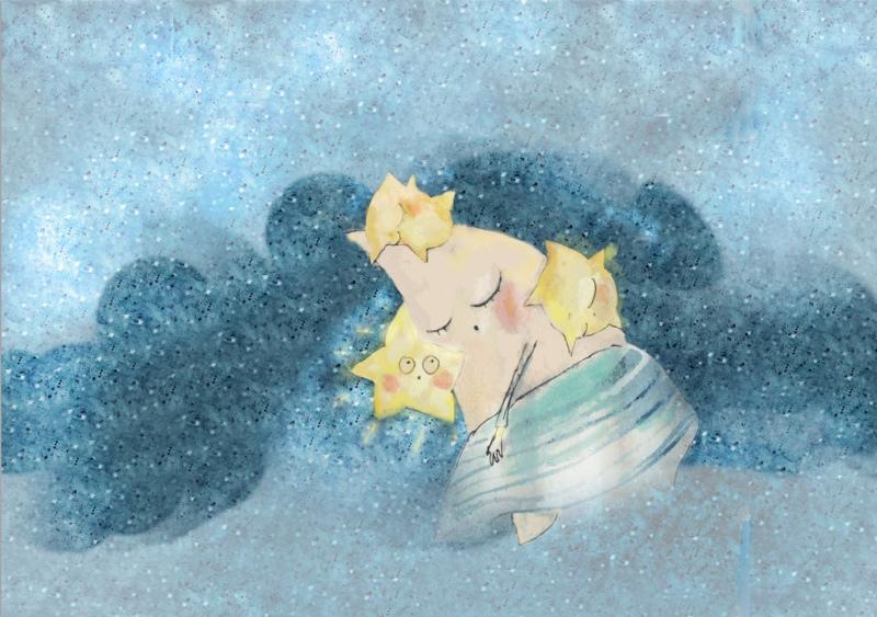 Mėnulis ir žvaigždutės