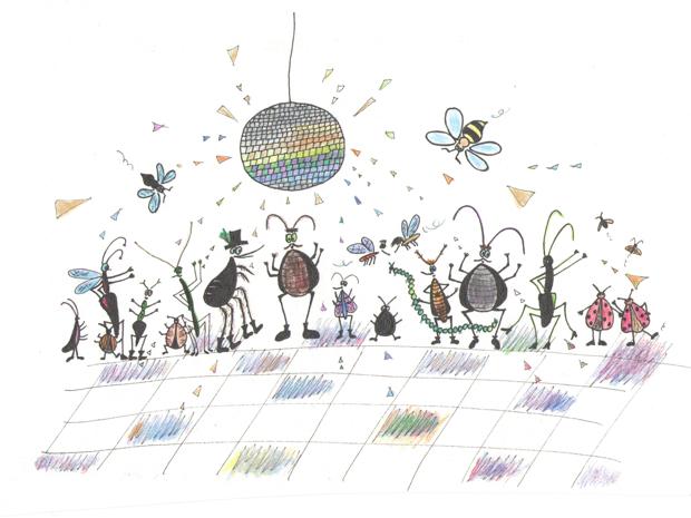 Blusa, tarakonas ir automobilis - iliustravo Rugilė Audenienė